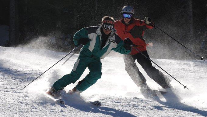 narciarze kolizja