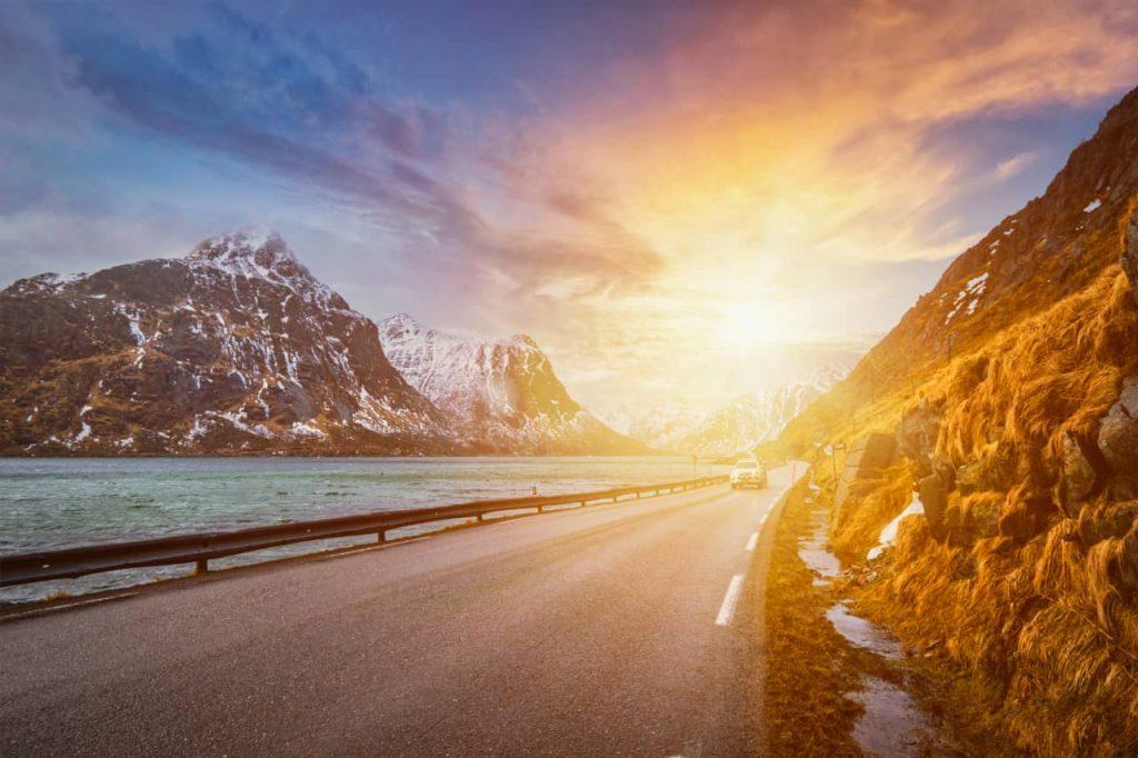 samochodem do Norwegii
